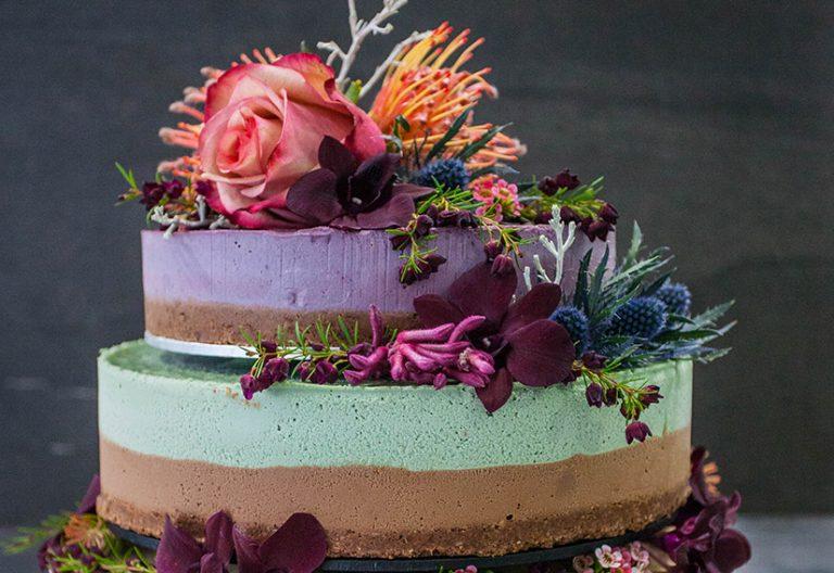 Three Tier Assorted Wedding Cake