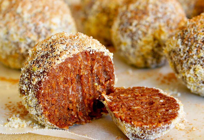 Macadamia orange balls
