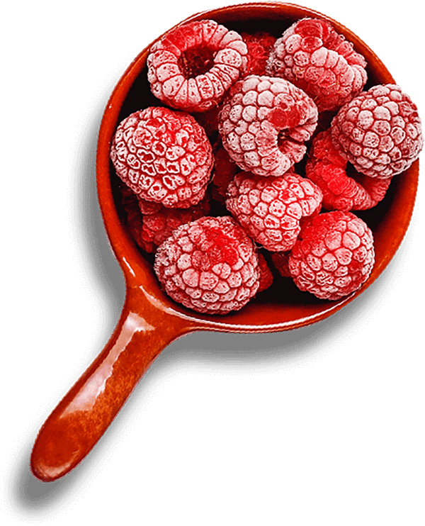 Raspberries left