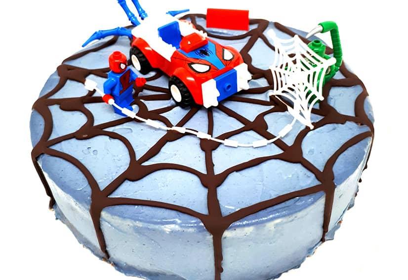 Chocolate strawberry cheesecake spiderman