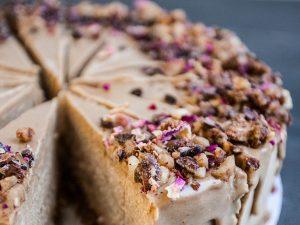 Coconut caramel cheesecake