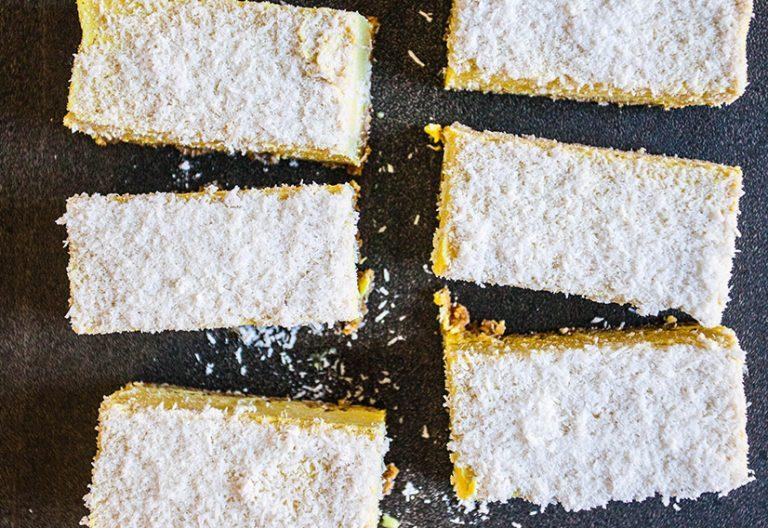 lemon curd slice