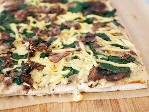 Pizza spinach