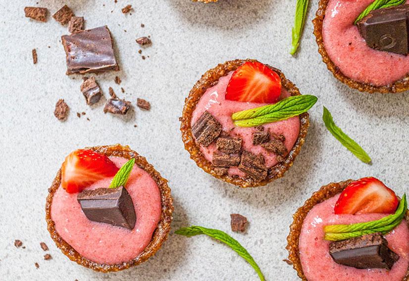 Strawberry Cream Mini Tarts