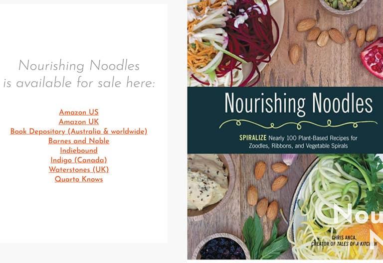 Nourishing Noodles Cook Book