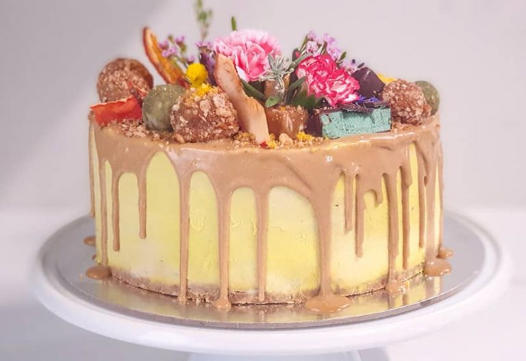 Tropical Layered Cake with Mango, Passionfruit and Pineapple