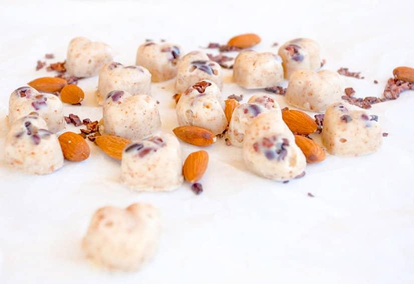 Almond White Chocolate Hearts